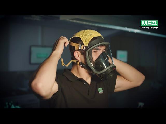 MSA G1 mask with net harness