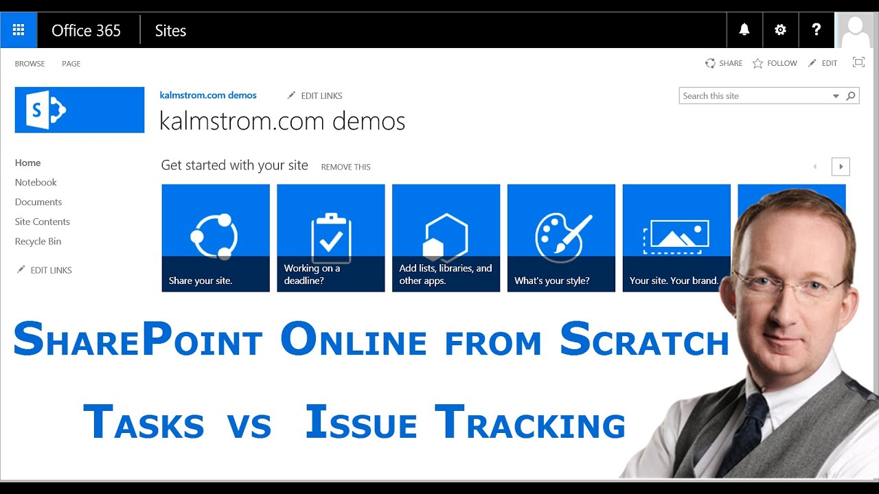 sharepoint tasks or issue tracking list sharepoint online from