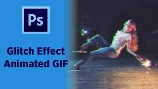 Photoshop CC 2017 - Bozulma Efekti Animasyonu (Glitch Animated GIF) Video