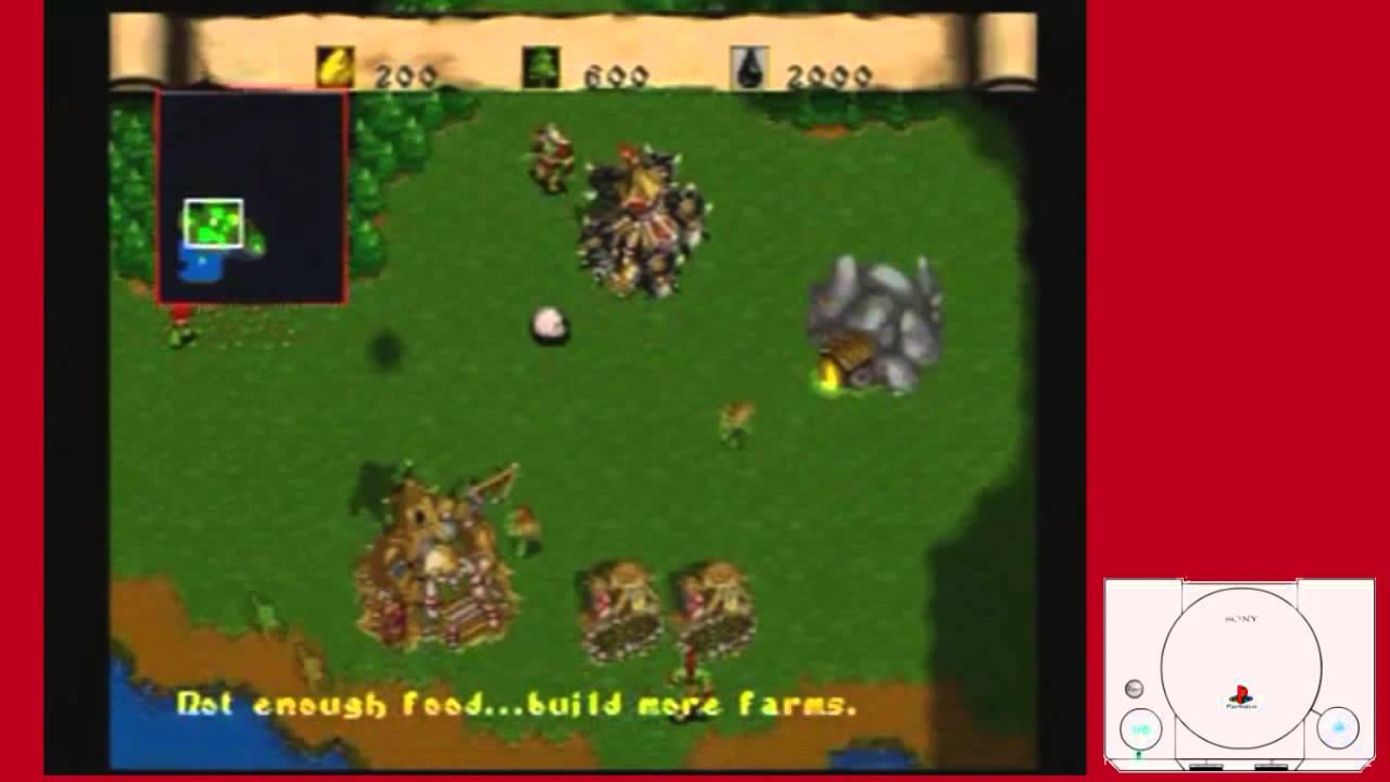 Warcraft Ii The Dark Saga Sony Playstation Ps1 Ps1 Youtube
