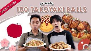 We Made 100 Takoyaki Balls!   Eatbook Vlogs   EP 84