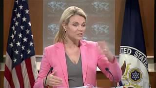 Heather Nauert State Department Press Briefing North Korea & China, Donald Trump Jr Russia 18 July