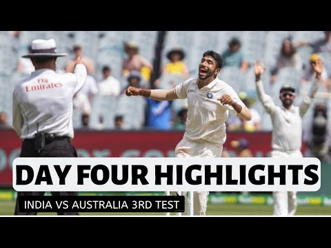 Ind vs Aus 3rd test day 4 highlights