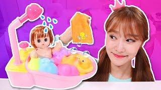 똘똘이 치카치카 목욕놀이 장난감 거품물감 색깔놀이 Baby Doll Bath 지니