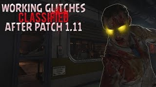 ALL WORKING SOLO ZOMBIE PILE UP GLITCHES ON CLASSIFIED AFTER PATCH 1.11 (CoD: BO4 Glitches)