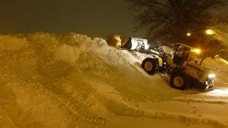 How To: Stacking Snow With A Loader Snow Pusher