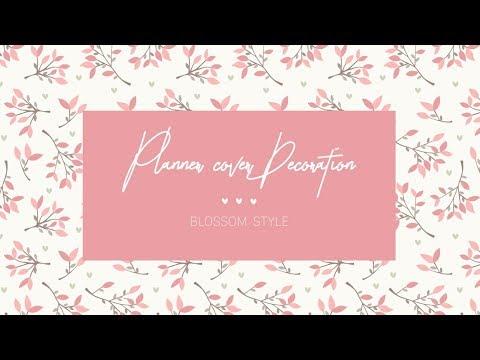 Trang trí bìa sổ cùng Flower Papertape