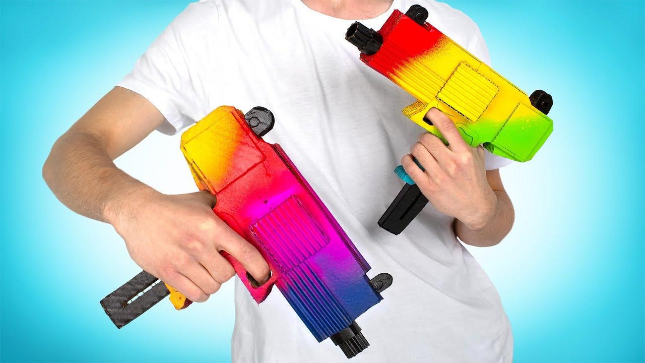 2 Blasters Brillantes Para Jugar Juntos || Un proyecto Casero de Cartón