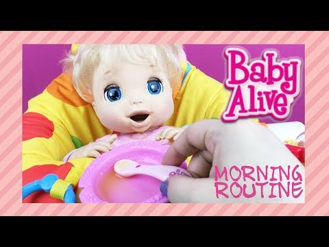Morning Routine with BABY ALIVE Doll Beatrix