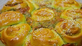 Много сыра не бывает Один из самых вкусных пирогов с сыром и зеленью