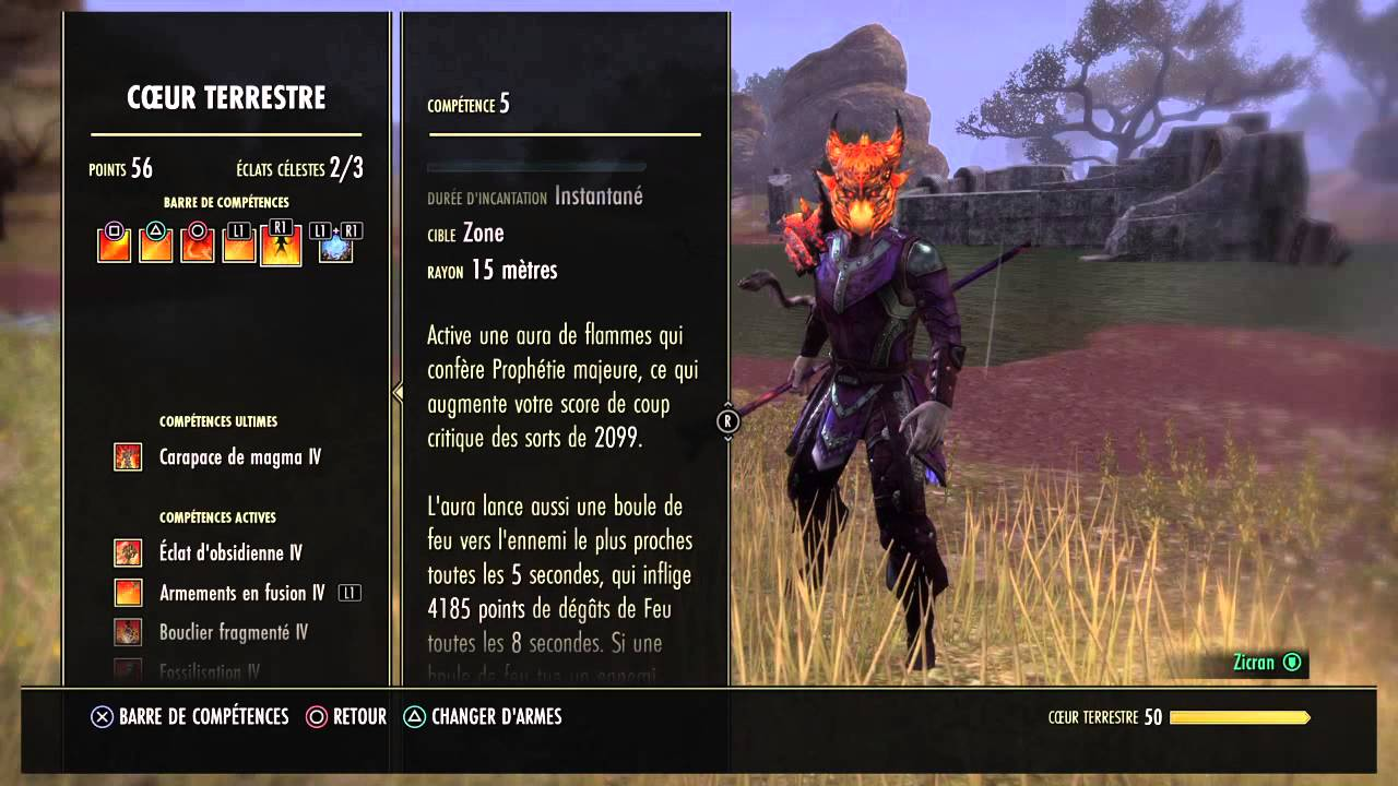Teso Build Chevalier Dragon Dps Magie