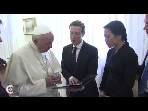 Pope meets Facebook founder