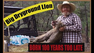 Hunting a Big Tom Mountain Lion and Catching him with Hounds During August Bear Season
