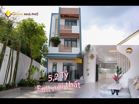 Nhà Đẹp Bình Dương   Nhà phố 2 tầng phong cách hiện đại   Giá: 5,2 Tỷ   #Video 124
