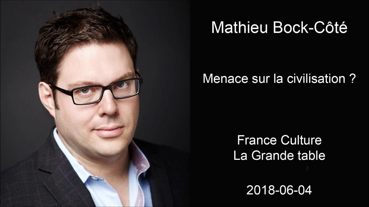Mathieu Bock Côté   Menace Sur La Civilisation?   La Grande Table   France  Culture