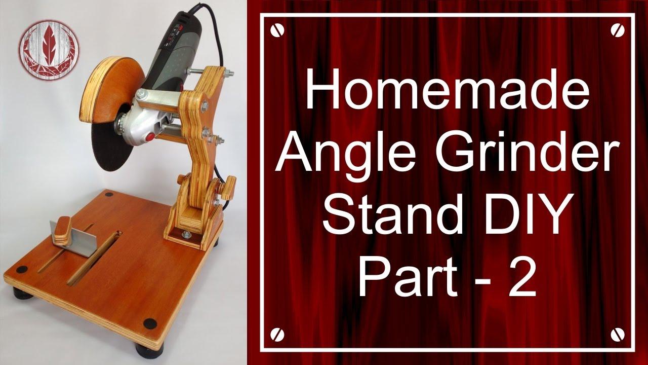 homemade angle grinder stand diy part 2 youtube. Black Bedroom Furniture Sets. Home Design Ideas