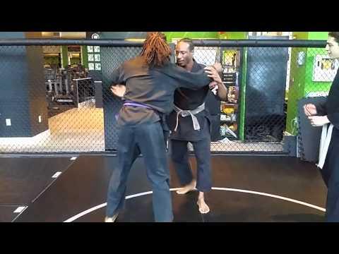 Master Phoenix demonstrates Judo drill