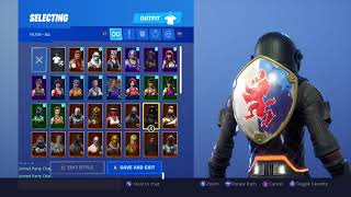 Squire Shield On All My Skins! Season 2 Backbling Fortnite