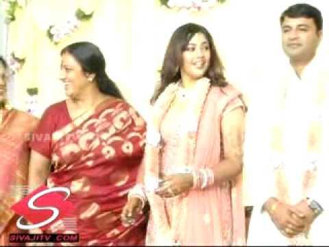 Meena Wedding Reception Video On Sivaji Tv Com First On Net With