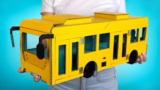 How To Make Cardboard Toy Bus 🚌