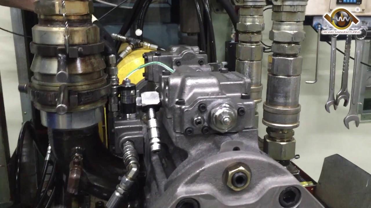 excavator main hydraulic pump receiving pressure flow rate test [ 1280 x 720 Pixel ]