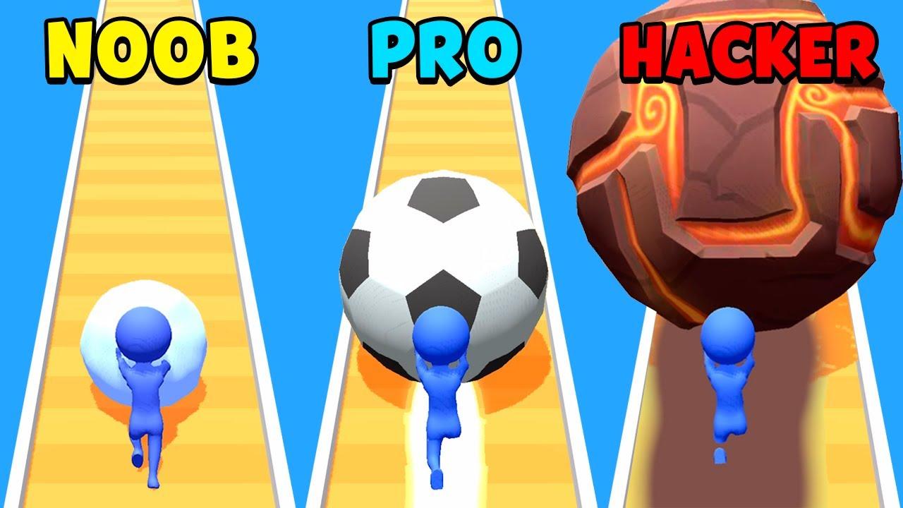 NOOB vs PRO vs HACKER - Snowball Run