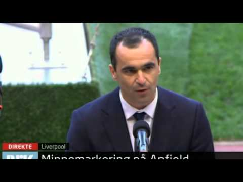 Roberto Martinez represents Everton FC at Anfield Road