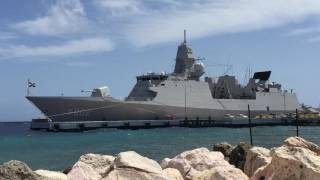 Magnificent Dutch Warship Spotted | Curacao