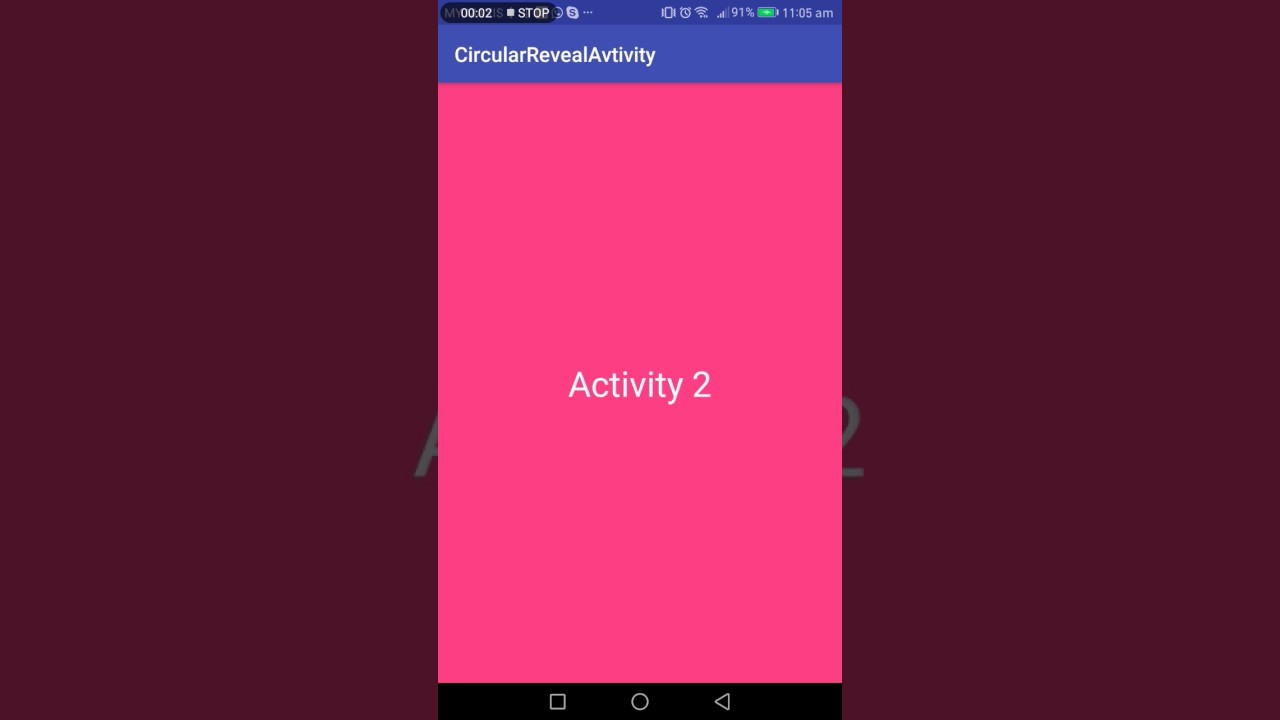 Android developer : Circular reveal start activity