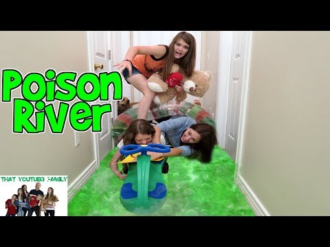 POISON RIVER - We Turned Our House Into a Swamp! Girls vs Boys/ That YouTub3 Family | Family Channel