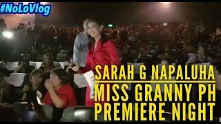 SARAH GERONIMO NAPALUHA SA STANDING OVATION SA MISS GRANNY PH PREMIERE NIGHT | NoLo Vlog