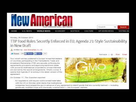 TTIP Food Rules Secretly Enforced in EU; Agenda 21-Style Sustainability in New Draft