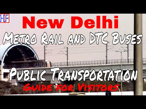 New Delhi | Public Transportation – Metro Rail and DTC Buses | Travel Guide | Episode# 2