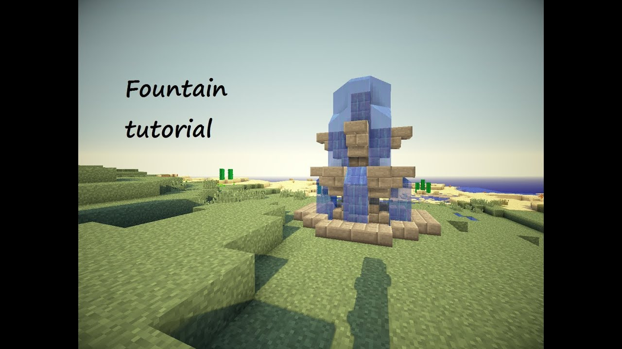 minecraft how to make a water fountain