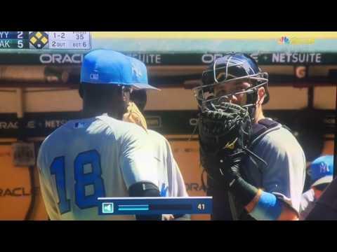 Mark Mulder needs an interpreter for the word interpret Oakland A's vs New York Yankees. MLB 6/17/17