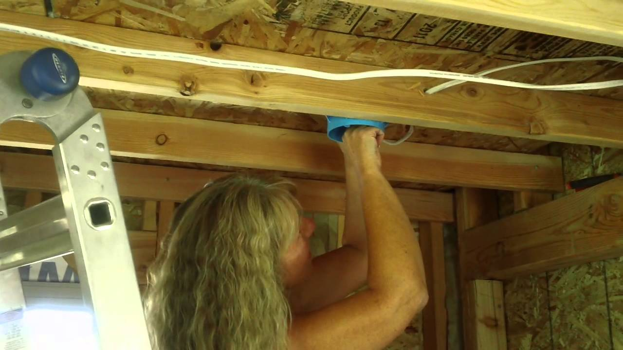My wife is now an electrician! Annissa is wiring the house. - YouTube