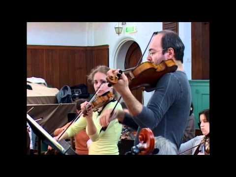 Julia Fischer and Gordan Nikolic recording Mozart