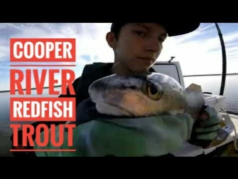Cooper River Redfish & Trout In December With Tommy (4K)