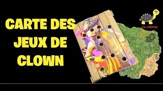 FORTNITE DÉFIS SEMAINE 9 SAISON 6 OBTENIR UN SCORE DE 10 OU PLUS SUR DIFFÉRENTS PANNEAUX DE CLOWN
