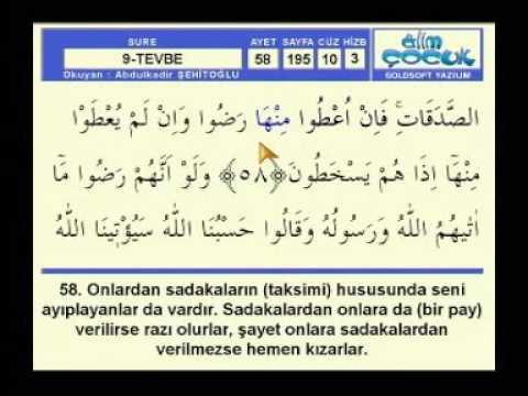 Fatih Çollak - 196.Sayfa - Tevbe Suresi (62-68)