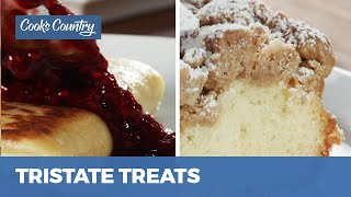 How to Make New Jersey Crumb Buns and Cheese Blintzes with Raspberry Sauce