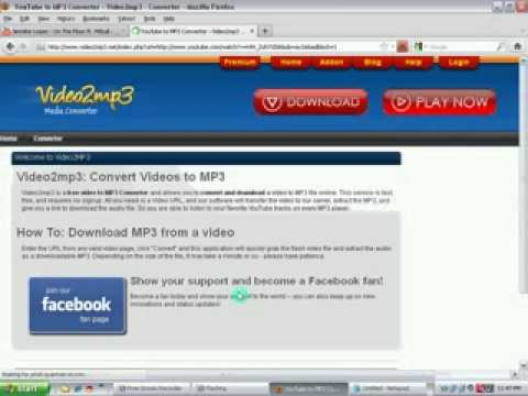 How to convert Youtube video into MP3 files (FREE)