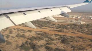 Oman Air Flight WY102 landing at Muscat