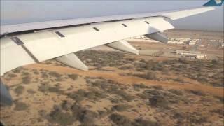 Oman Air Flight WY102 landing at Muscat