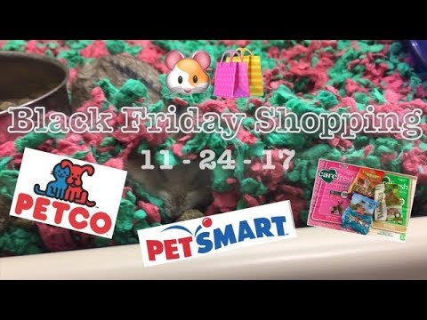 BLACK FRIDAY SHOPPING For The Hams!   +Cute Animal Footage At Petsmart & Petco 🛍🐹