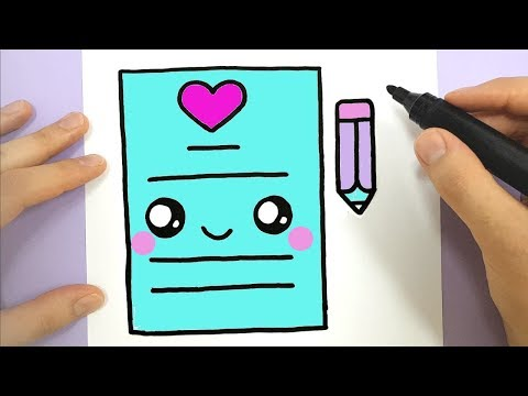HOW TO DRAW A CUTE LOVE LETTER KAWAII