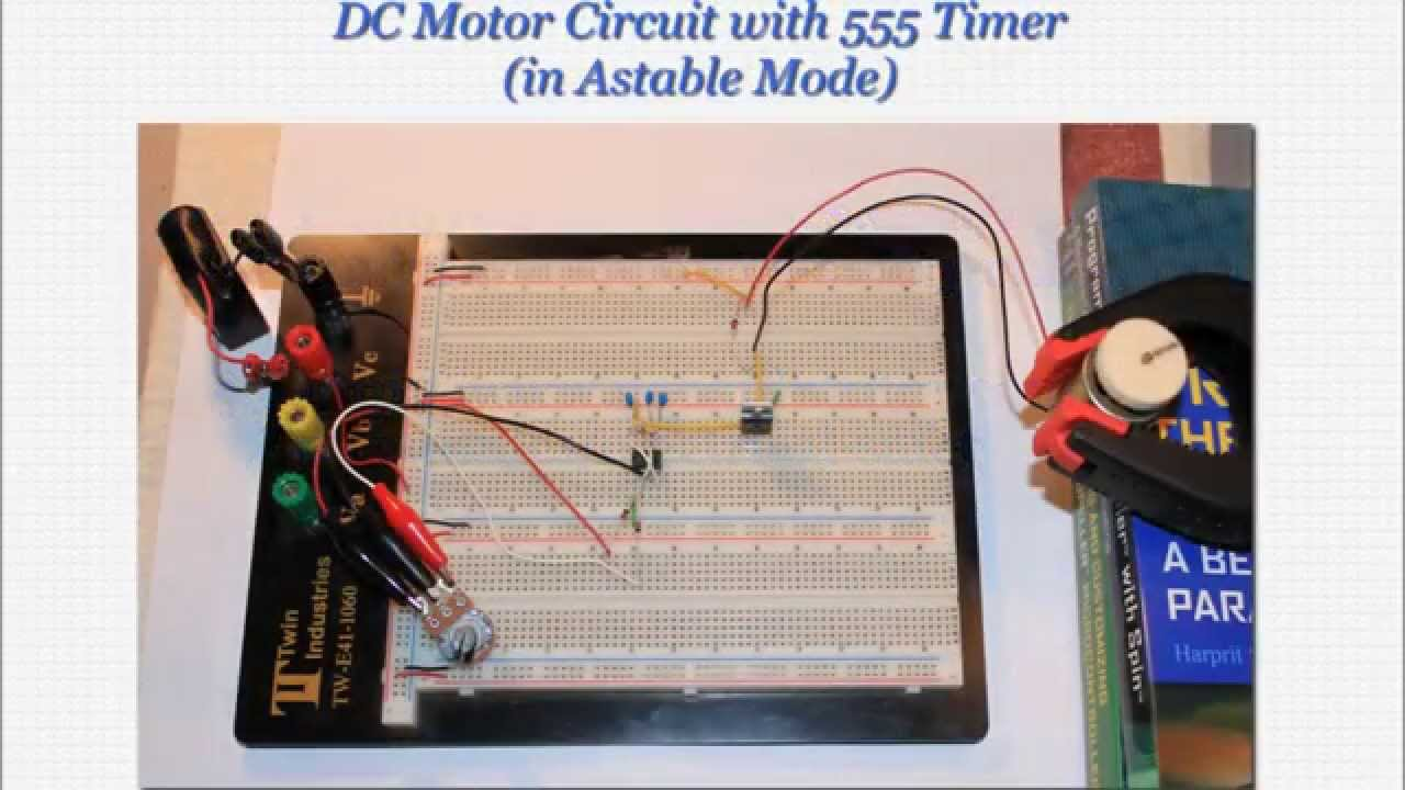 Speed Adjustable Dc Motor Circuit With 555 Timer Youtube