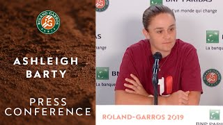 Ashleigh Barty - Press Conference after Semi-finals | Roland-Garros 2019