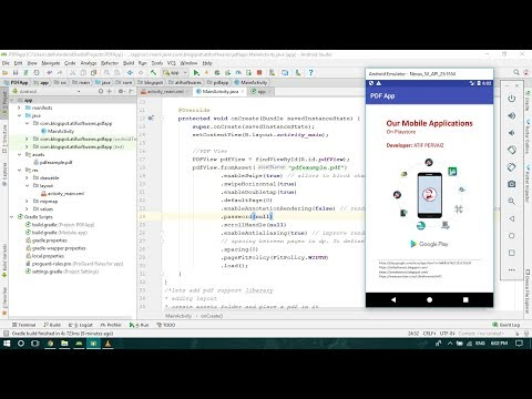 PDF reader app - Android Studio Tutorial