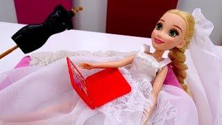 Рапунцель готовится к свадьбе - Видео для девочек - Одевалки